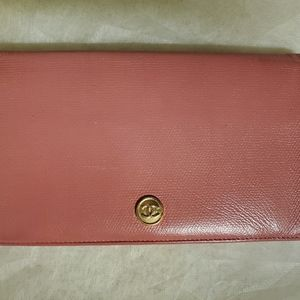 SOLD ON M !! Chanel Leather Pink Wallet
